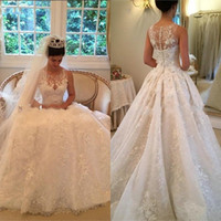 Wholesale Fancy Cover - Fancy Lace Wedding Dresses Vintage A Line Wedding Dress 2016 Hot Sale Wedding Dresses Robe De Mariage