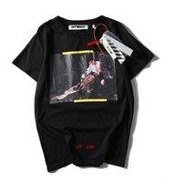 Wholesale Black Gothic Clothing - Kanye West Of God T-shirt Fog Longline Ribbon T shirt Off White Black Brand Clothing Hip Hop Fear Gothic Tshirt Men Tee