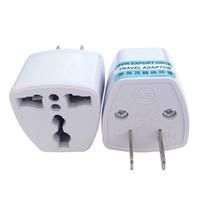 ingrosso connettori dell'adattatore ac-Caricabatterie da viaggio di alta qualità Alimentazione elettrica CA UK / AU / EU Ad US Plug Adapter Converter USA Connettore universale Power Adaptador (bianco)