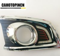 Wholesale Switch For Drl - 12V LED car drl Daytime Running Lights accessories For TOYOTA HILUX TOYOTA HILUX VIGO revo CHAMP 2012 2013 2014 with a Switch