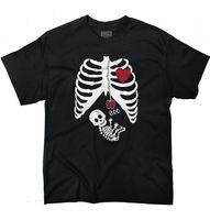 Wholesale X Ray Shirt - Pregnant Skeleton Baby X-Ray Maternity Themed Halloween Gift T-Shirt