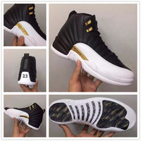 Wholesale Shoe Inside - retro 12 wings basketball shoes 2016 new colorway sneakers for men Real Carbon Fiber Zoom inside Original Factory Quality Version