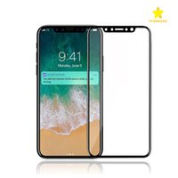 Wholesale Iphone Box Packaging - For iPhone 8 Plus iPhone X 3D Full Cover Color Tempered Glass Soft Edge Screen Protector for iPhone8 7 Plus with Box Package
