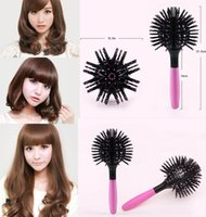 ingrosso estensioni dei capelli magici-All'ingrosso-Nuovo 2017 Magic Round Hair Extension Brushes pettine Styling Styling districante Hairbrush
