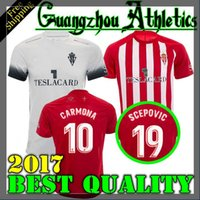 Wholesale Soccer Sports Jerseys - Thai quality 2017 2018 Sporting Gijon soccer jersey 17 18 Real Sporting de Gijón jerseys Carmona Stefan Santos Ruben Garcia football shirts