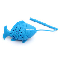 Wholesale Kawaii Plastic Food - Diffuser Strainer New 2016 Arrival Kawaii fish Design Food grade Silicone Loose Tea Leaf Strainer Herbal Spice Infuser Filter