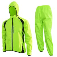 Wholesale Reflective Raincoats - Wholesale-Breathable Windproof Cycling Jacket Jersey Reflective MTB Bike Rain Coat Pants  Waterproof Outdoor Clothes Bicycle Raincoat Set