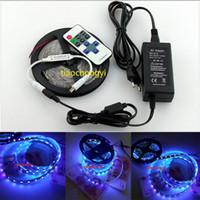 Wholesale Uv Lamp 12v - 12V 5050 SMD 395-400nm UV LED Flexible Strip light lamp+RF remote+5A 12v power