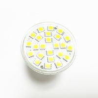 ev için spot ışıklar toptan satış-LED Lamba GU10 5 W AC 220 V 110 V 5050 SMD Ampul LED Spot Bombillas 24 LEDS Cam Vücut Spot işık ev ampuller için