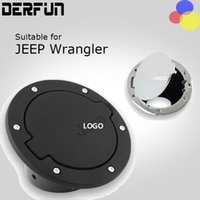 Wholesale Fuel Tank Fittings - For Jeep Wrangler JK 07-16 Fuel Tank Cap Black & Silver ABS Fuel Door Gas Tank Cover Fit for 2 & 4 Doors