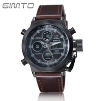 Wholesale Automatic Multifunction Watches - 2017Classic Mens Quartz Digital Watches Multifunction Non mechanical Leather Nylon Band Wrist Watch Father valentine Gift