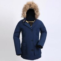 Wholesale Rich Coats - Fall-2017 New Wool rich Brand Men's Arctic Anorak Down jackets Man Winter goose down 90% Outdoor Thick Parka Coat winter warm outwear