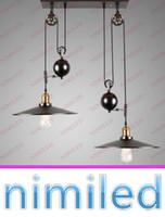 Wholesale industrial kitchen lighting pulleys for sale - Group buy nimi672 Light Vintage RH Loft Industrial LED American Country Adjustable L Pulley Chandelier Pendant Lights Lighting Lamps Retracta