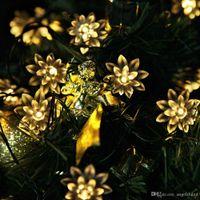 ingrosso alberi di natale all'aperto a batteria-Solar Power e Battery Operated Fairy String Lights 4.8M 20 LED Outdoor Festive Garden Patio Patio Alberi di Natale Decorazioni per matrimoni