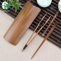 Wholesale Chinese Tea Set Bamboo - Wholesale - Bamboo Tea Sets Chinese Tea Tools, Handmade Tea Ceremony Tools Include Tea Scoop   Needle   Tong 2016 NEW Kitchen Accessorie