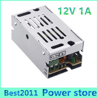 Wholesale Driver 1a - Free shipping 12W 12V 1A Switch Power Supply Switching Driver Adapter Voltage Transformer for Led Strip Light Display