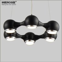 Wholesale Hanging Light Fittings - Modern LED Chandelier Ring Light Fitting 6 LED lights Circle Suspension hanging light 18 watt Prompt Shipping 100% Guanrantee