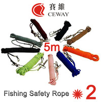 Wholesale Rubber Lanyard - Fishing Safety Rope Elastic Accidently Lanyard Tensile Rubber Cord Missed Ropes 5m Rod Protector Retractable Retention Cable Free Shipping