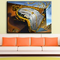 Wholesale Bedroom Sheets - ZZ1847 modern abstract canvas art Melting Watch, 1954 by Salvador Dali canvas pictures oil art painting for livingroom bedroom