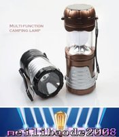 Wholesale led bivouac light - 2016 new 5W Outdoor lighting camping Solar energy Rechargeable Camping Lantern Bivouac Hiking Camping Light LED Lamp free shipping MYY