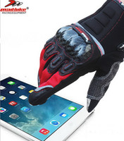 Wholesale Motorcycle Mobile - 2016 new MADBIKE motocross motorcycle riding gloves full finger touch screen mobile phone Knight gloves carbon fiber drop resistance MAD-03