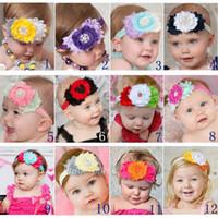 saç elmas şeritler toptan satış-Sıcak Çocuk Saç Aksesuarları Çocuklar Çiçek Saç Bandı Bebek Kafa Çember Lotus Yaprağı Elmas Kafa Bandı Bebek Kız Bebek Yürüyor Headbands Şapkalar