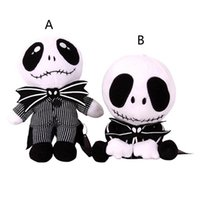 Wholesale Skeleton Child - 10 Inch Halloween Jack skeleton Plush Toys EMS 2 style 20-25cm children Anime Nightmare Before Christmas stuffed toys B