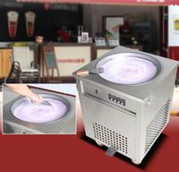 Wholesale Cream Maker Machine - 2017 New Thai fried ice cream roll machine round pan fry ice machine 50cm pan ice roll machine milk roll