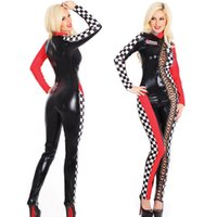 Wholesale Sexy Racing Uniform - Ladies Sexy Racing Catsuit Jumpsuits & Playsuits Costume Uniform Fancy Dress SM89201