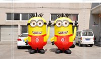 Wholesale Minions Ships For Sale - free shipping 4m H newest yellow humor and popularity minion inflatable cartoon for sale with free air blower
