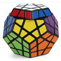 Wholesale Megaminx Cube - Newest Shengshou Megaminx Magic Cubes Pentagon 12 Sides Gigaminx PVC Sticker Dodecahedron Toy Puzzle Twist
