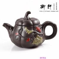 yixing kapları toptan satış-Yixing demlik demlik Yixing renk kabak pot Zhu çamur