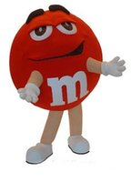 Wholesale Adult Cotton Candy Costume - Mascot city High Quality Red M&M Chocolate Mascot Costume Adult Size Cartoon Character Candy Theme Advertising Mascotte Fancy Dress