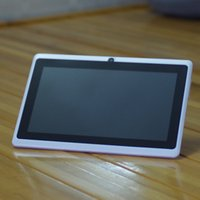 tableta q88 wifi usb al por mayor-7 pulgadas Allwinner A33 quad core Android 4.4 Tablet PC Q88 capacitiva cámara dual 512MB 4GB 8G P-3