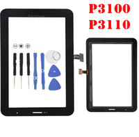 Wholesale galaxy tab plus - OEM For Samsung Galaxy P1000 Tab 2 7.0 P3100 P3110 P3113 VS Plus P6200 Touch Screen Digitizer Glass Lens + Adhesive Replacement 1PCS