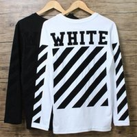 Wholesale Sports Tex - 2017 Men fashions Hoddies with Black and white hoodie sweatshirt women harajuku sport off white pullover tracksuit