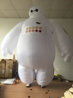 Wholesale 2016 NEW Adult Big Hero Inflatable Costume Baymax Purim Fancy Suit Cloth Baymax Mascot