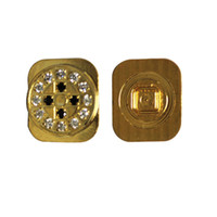 Wholesale Wholesale Bling Iphone Home Button - Wholesale-NewDiamante Bling Gold home button Replace For iPhone 5G home key 11 Styles