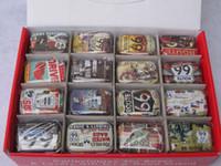 caixas de bolo de casamento chinês venda por atacado-32 Pçs / lote Rota 66 Caixa de Doces / caixa de presente de lata / Pílula de Viagem Caso Quadrado Collectables Caixas De Lata