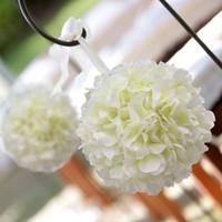 Wholesale Wholesale Kissing Balls New - 18cm Artificial Silk Hydrangea Flower Balls Wedding Party Pomander Bouquet Home Decoration Ornament Kissing Ball New