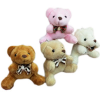 Wholesale Miniature Christmas Toys Wholesale - Bulk 40pcs x 2.8inch(7cm) Plush Teddy Bears Small Tiny Miniature Doll House Craft Sitting Bear With Bow