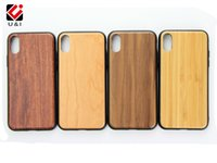 Para iPhone X 8 Real Bamboo Case Full TPU Protector celular Contraportada Personalizada U & I Wooden para Apple iPhone X 8