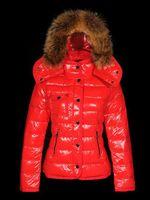 büyük yaka kadın kat toptan satış-Marka Kadınlar Casual Aşağı Ceket Aşağı Palto Kadınlar Açık büyük Kürk Yaka Sıcak Tüy elbise Kış Coat dış giyim Ceketler M207A