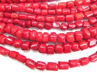 Wholesale Drum Coral Beads - high quality Genuine Coral 8 10 12 14 16mm full strand nuggets freeform drum rondelle loose bead
