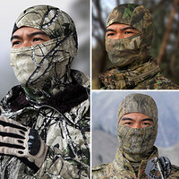 Wholesale Paintball Hunting - Wholesale-New Snow Camo Outdoor Bicycle Bike Cycling Motorcycle Ski Hats Balaclava Hunting Paintball Tactical Protection Full Face Mask