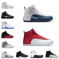 Wholesale Nice Free Shoes - nice quality classic basketball shoes retro 12 retro XII ovo white pinnacle metallic gold playoffs royal blue red sky cheap free shipping