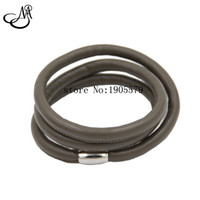 Wholesale Friendship Bracelet Designs - 2016 Newest Design DIY Bracelet Gray 3 Layered Leather Charm Endless Friendship Bracelet For Women Wholesale MIJ029