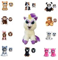 Wholesale Funniest Videos - Feisty Pets PlushToys Funny Expression Stuffed Animal Unicorn Horse Panda Animals Toys Doll for Girls Christmas Gift KKA3504