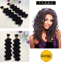 "Wholesale Hair Color Pack - Color 1#1B#2#4# Black 20"" Janet Collection Encore Ripple Deep Bulk Premium Blended Hair No Packing Naked Hair 100g bundle"
