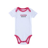 """Wholesale Cotton Clothes Store - Top Quality 0-12 Months 100% Cotton Newborn Baby Clothing Sets Summer Infant 'Mommy loves Me"""" Jumpsuits Online Store Saled"""